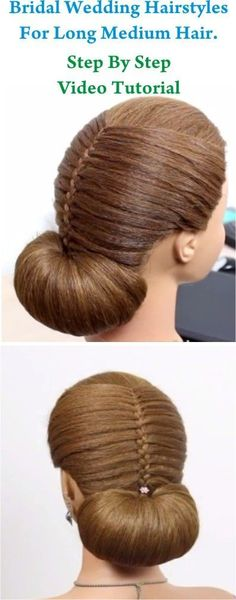 Repin Or Like It - And I'll Like 5 Your Last Pins!!! Bridal Wedding Hairstyles For Long Medium Hair Step By Step Video Tutorial in http://makeupnailartideas.blogspot.com/2015/02/bridal-wedding-hairstyles-for-long.html