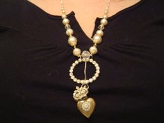 one of my first repurposed vintage jewelry pieces Dec 2007