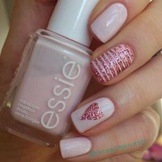 Blush and rose gold #nail art design