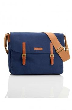 Blue unisex messenger diaper bag Ashley STORKSAK - Photo