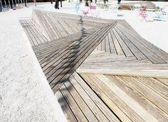 Série de mobilier le long du canal Östra förstadsgatan à Malmö par MW