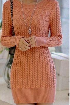 Your Season Dress Winter Fashion Outfits, Fall Outfits, Casual Outfits, Fashion Dresses, Cable Knit Sweater Dress, Knit Dress, Crochet Skirts, Crochet Clothes, Pretty Lingerie