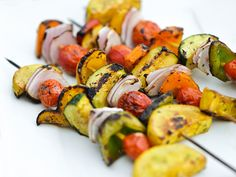 Balsamic Vegetable Skewers Recipe   Serious Eats