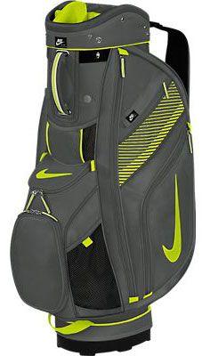 Nike Ladies/Men's Sport Cart II Golf Bags – Dark Base Grey/Venom Green