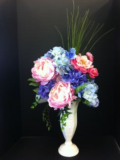 Pinks, lavenders, and blues custom floral by Andrea at Michaels in Laverne ca