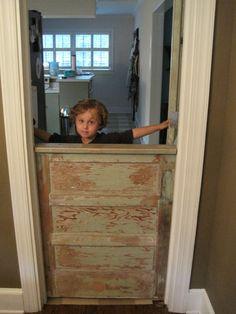 Dutch Door Made As Baby Gate, Open