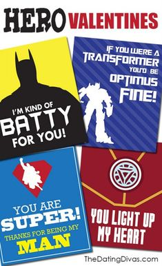 Super Hero Valentines- FREE download!