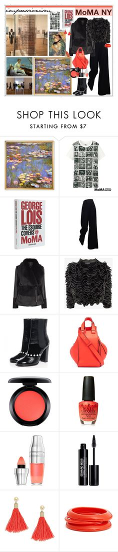 """""""MoMA NY"""" by marionmeyer ❤ liked on Polyvore featuring Uniqlo, Assouline Publishing, The Row, Alexander McQueen, Chanel, Loewe, MAC Cosmetics, OPI, Lancôme and Edward Bess"""