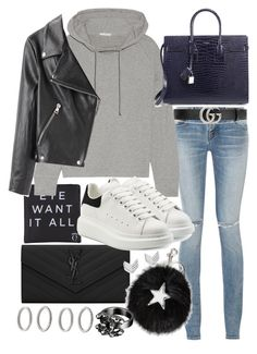 """Untitled #20831"" by florencia95 ❤ liked on Polyvore featuring Yves Saint Laurent, Eyeko, Gucci, James Perse, Acne Studios, Alexander McQueen, STELLA McCARTNEY, Chanel, FOSSIL and Forever 21"