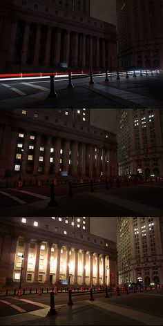 As the lights came on in lower Manhattan... by rxb, via Flickr