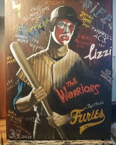 """@obg.art___old_but_gold on Instagram: """"12 x 16 the warriors movie, baseball furies- oil on canvas Art inquiries please message • • •  #oil #artist #drawing #darkwood #colour…"""" White Russian Drink, The Warriors Baseball Furies, Wild In The Streets, Warrior Movie, Oil On Canvas, Canvas Art, Warrior Logo, Best Novels, Iconic Movies"""