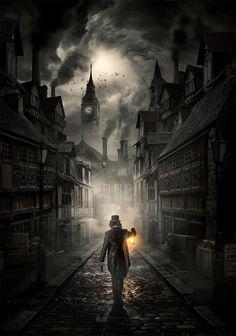 Dark Fantasy Art, Fantasy City, Fantasy Places, Fantasy Artwork, Fantasy World, Dark Art, Steampunk City, Ville Steampunk, Steampunk Desk