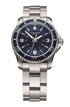 Victorinox Swiss Army® 'Maverick GS' Two Tone Bracelet Watch, 34mm