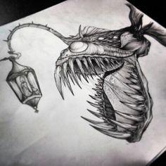 Anglerfish draw by #alfredonajar #inksanity