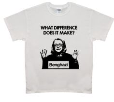 """""""What difference does it make?"""" - Hillary Rodham Clinton - Cotton. - Seamless double needle 7/8 collar. - Taped neck and shoulders. - Machine wash. - Size chart. - Designed and printed just for you in"""