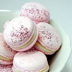 Rose macaroons. Dear God, these are stunning. #tea