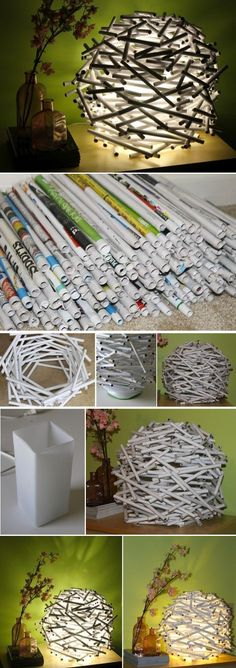 Completely Recycled Lamp