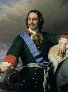 Piotr I Wielki zyskał swój przydomek dzięki reformom wewnętrznym oraz budowie mocarstwowej pozycji Rosji w Europie, możliwej dzięki zwycięstwu nad Szwedami pod Połtawą (portret Paula Delaroche'a).