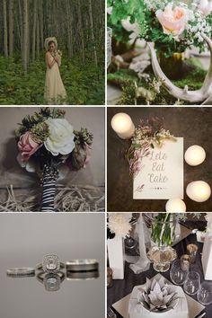 A dusky, earthy wedding palette is great for a fall wedding.