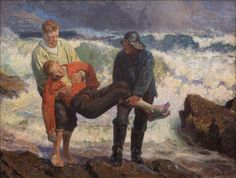 https://flic.kr/p/BrdJG2   Laurits Tuxen - The Drowned Brought to Land [1913]   Laurits Tuxen (Copenhagen, December 9, 1853 - Copenhagen, November 21, 1927) was a Danish painter and sculptor specialising in figure painting. He was also associated with the Skagen Painters. He was the first head of Kunstnernes Frie Studieskoler, an art school established in the 1880s to provide an alternative to the education offered by the Royal Danish Academy of Fine Arts.  [Skagens Museum - Oil on canvas…