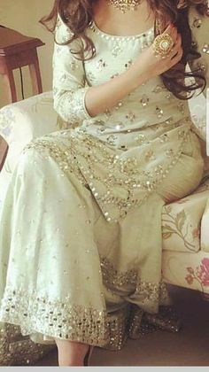 Moon sm know the prize Pakistani Wedding Outfits, Pakistani Bridal, Pakistani Dresses, Indian Dresses, Indian Outfits, Pakistani Sharara, Party Wear Dresses, Bridal Dresses, Stylish Dresses