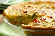 Broccoli, Potato and Bacon Quiche Perfect for supper or brunch, this hearty quiche can be made in just minutes with frozen vegetables and refrigerated pie crusts. Breakfast And Brunch, Breakfast Quiche, Bacon Breakfast, Quiche Recipes, Brunch Recipes, Breakfast Recipes, Breakfast Ideas, Pie Recipes, Drink Recipes