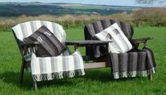 Jacob sheep woollen throws and cushions!