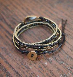 Wrap Bracelet Diy Bracelet, Beaded Wrap Bracelets, Beaded Jewelry, Jewelry Bracelets, Handmade Jewelry, Necklaces, Beadwork, Beading, Jewelry Accessories