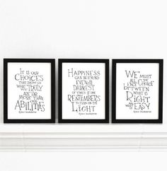 This is a great idea. Framing book quotes