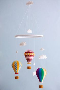 Fancy - Hot Air Balloon Mobile Baby Child Mobile Custom