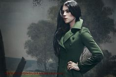 KAt Von D in a green Huntress Coat. Miami Ink, Kat Von D Tattoos, Classically Trained, Los Angeles Area, Metal Girl, My Muse, Photoshoot, Style, Icons