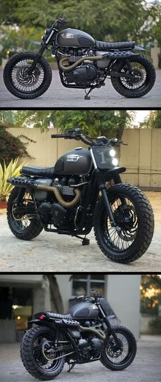 A Triumph Bonneville Scrambler built for Triumph Motorcycles India.