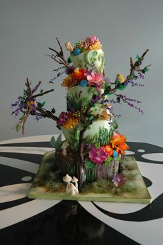 enchanted forest wedding cake - Google Search                                                                                                                                                     More