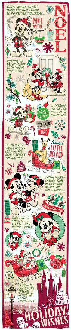 Santa Mickey Getting Ready for Christmas at Disney Parks