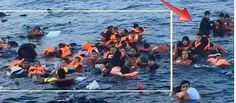Don't you just hate it when your drowning refugee photo is ruined by the guy who stands up? #mediapropaganda