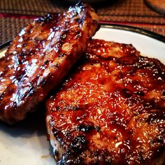 """World's Best Honey Garlic Pork Chops """"A quick and simple grilled pork chop that everyone will love featuring a simple and easy glaze."""" World's Best Honey Garlic Pork Chops – World's Best Honey Garlic Pork Chops Pork Chops And Rice, Honey Garlic Pork Chops, Oven Baked Pork Chops, Barbeque Pork Chops, Honey Glazed Pork Chops, Crock Pot Pork Chops, Asian Pork Chops, Brown Sugar Pork Chops, Air Fryer Pork Chops"""