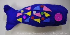 Grade 2/3 Stuffed and Sewn fish - would be great after reading the book Only One You