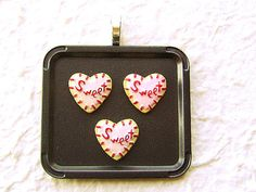 Cute Food Pendant Heart Cookies by SouZouCreations on Etsy, $10.00