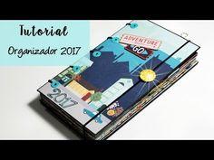 Scrapbooking: Tutorial Álbum Cuadrado (parte 2 de 2: Decoración, Elaboración de bolsillos, etc) - YouTube