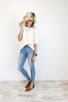 Prague Knit Top in Cream | ROOLEE