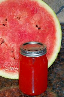 Watermelon Jelly  6 C. pureeded Watermelon  5C. white sugar  1/2 C bottled or fresh lemon juice  1 pkg Pectin