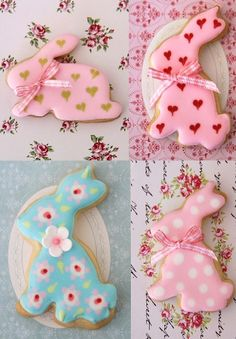 Cute bunnies ♥ these and have just recently purchased a decent bunny cookie cutter :)