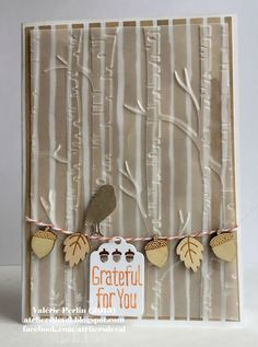 WOODLAND EMBOSSING FOLDER - Stampin' Up - ateliersdeval.blogspot