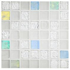 Water & Sky Glass Mosaic - Winter Ice Blend