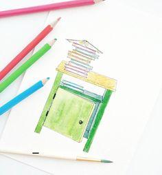 #illust #drawing #watercolor #ikea #lesyanes