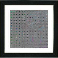 Studio Works Modern 'Weave' by Zhee Singer Framed Graphic Art in Gray