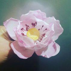 Yenilebilir kagit pink flower