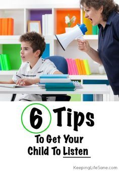 Tips to get your child to listen - Keeping Life Sane
