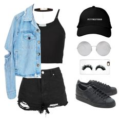 """""""Untitled #162"""" by gr20gk on Polyvore featuring Lost & Found, adidas Originals, Victoria Beckham, New Look and Rianna Phillips"""