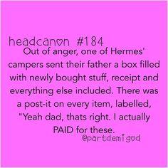 Hahaha this is by far THE BEST Headcanon ever!!!!